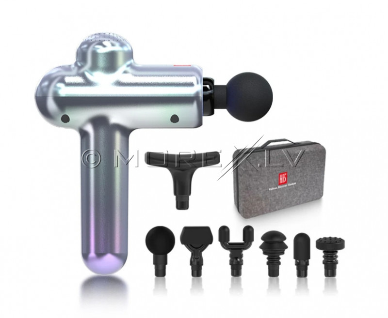 Muscle massage gun Hi5 Sportster with 7 head attachments