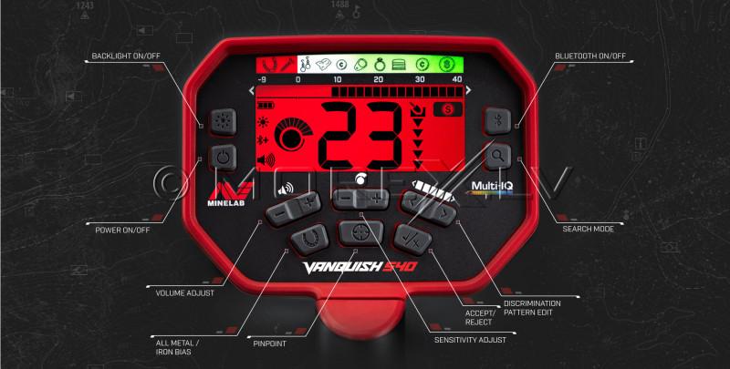 Metāla detektors Minelab Vanquish 540 + PRO-FIND 20 PinPointer