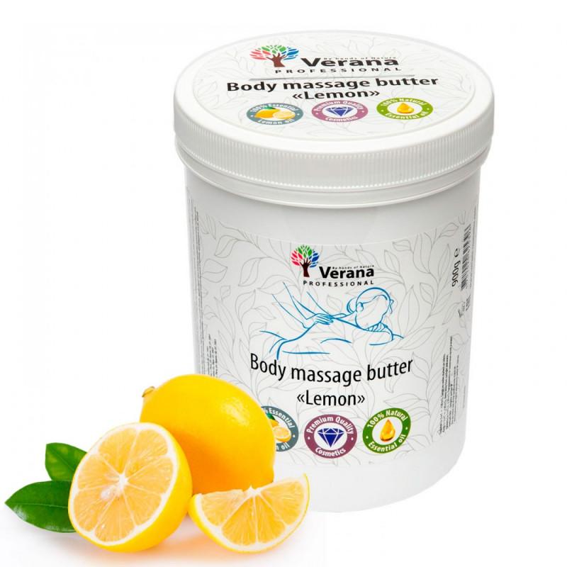 Твёрдое массажное масло для тела Verana Лимон 900 гр