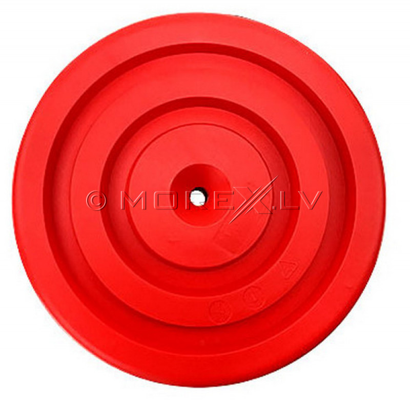 Plastmasas disku šūpoles Tarzanka Ø28 cm, КВТ, sarkani