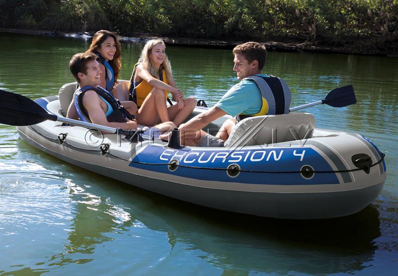 Надувная лодка Intex EXCURSION 4 BOAT SET, 315х165х43 (68324)