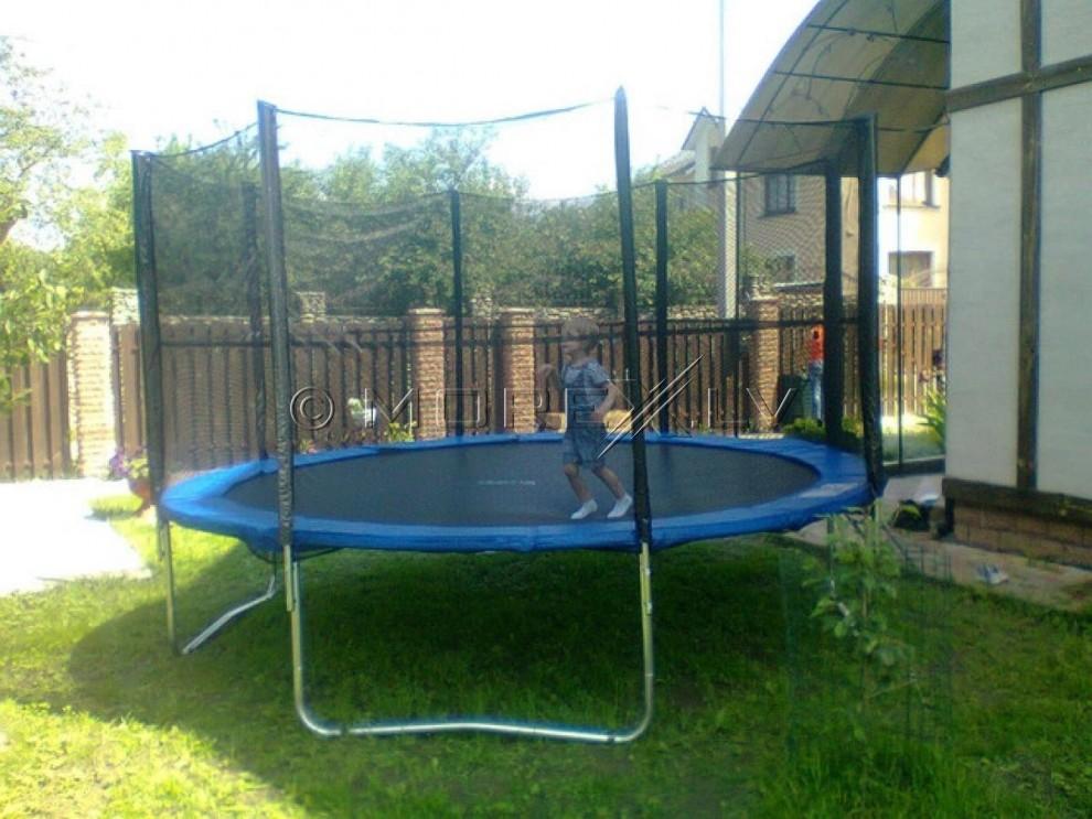 Batuts 366 cm ar drošības tīklu un kāpnēm 12ft (3.66 m)