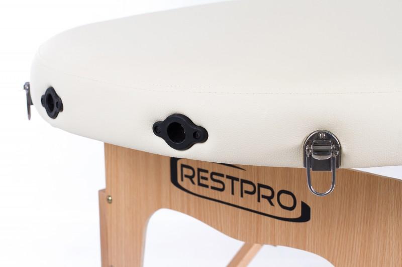 RESTPRO® Classic Oval 2 Cream (krēma krāsa) masāžas galds (kušete)