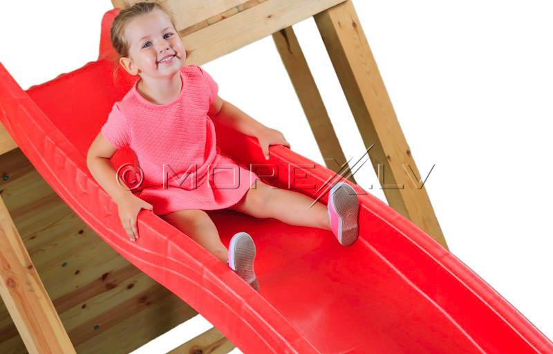 Slidkalniņš Just Fun ''Vilnītis'', augstums 1.25 m, sarkans