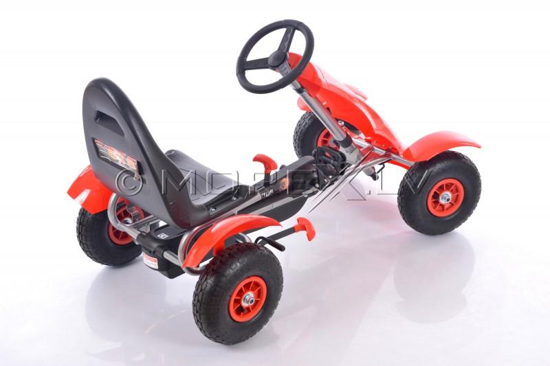 Велокарт (Веломобиль) Go-Kart F618 красный (от 4-10 лет)