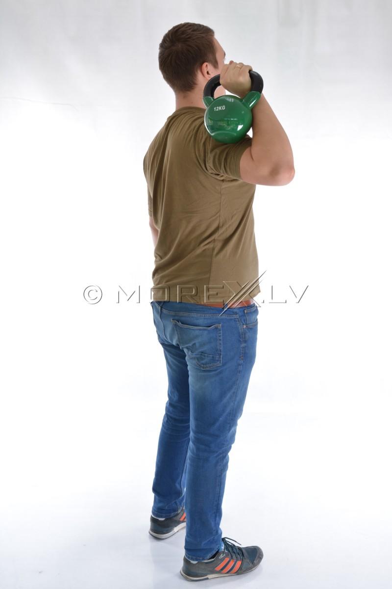 Металлическая гиря с виниловым покрытием 12 кг