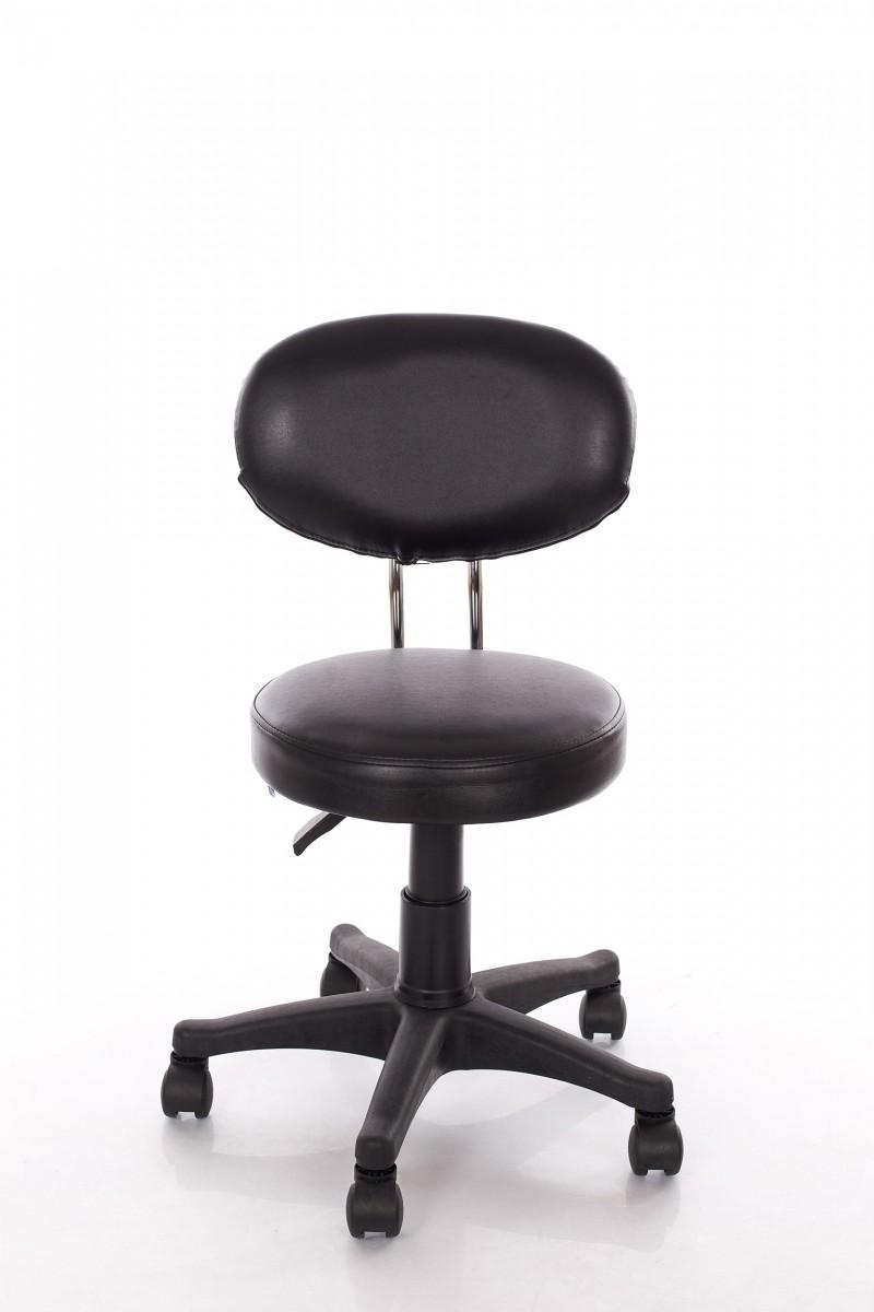 Meistara krēsls RESTPRO® Round 3 black (kosmetologa, masiera krēsls)