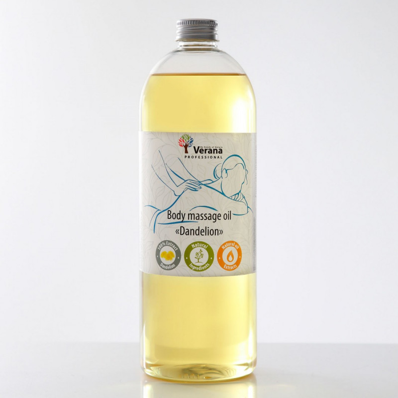 Массажное масло для тела Verana Professional, Одуванчик 1 литр