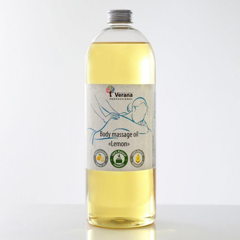 Masāžas eļļa ķermenim Verana Professional, Citrons 1 litrs
