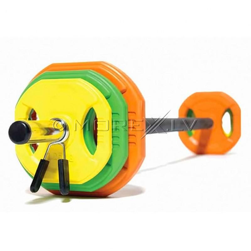 Body Pump svaru stienis ar diskiem 20 kg