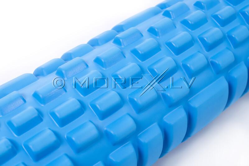 Masāžas jogas pilates putu rullis Yoga Roller 14x62cm, zils