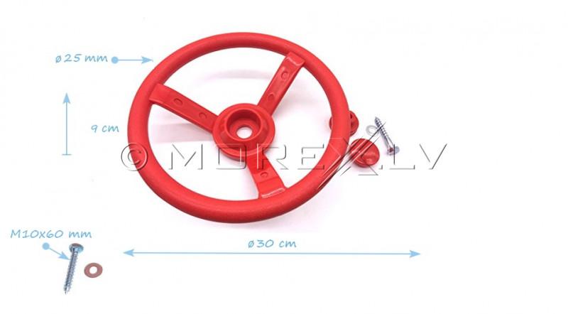 Bērnu stūres rats Just Fun ''Mazais šoferis'', Ø 30 cm, sarkans