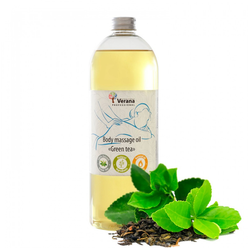 Body massage oil Verana Professional, Green tea 1 liter