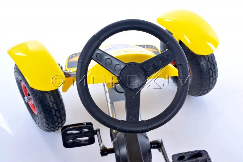 Velokarts (Velomobilis) Go-Kart F618 dzeltens (4-10 gadiem)