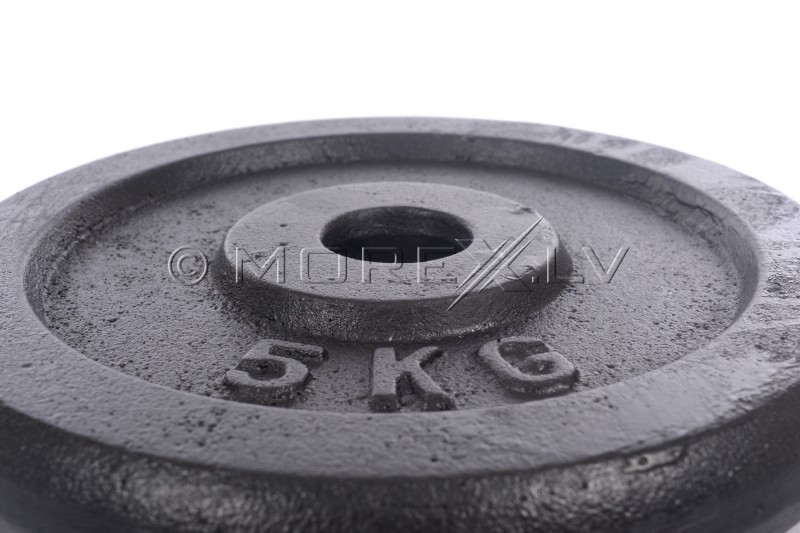 Steel weight disk for barbells and dumbbells (plate) 5kg (31,5mm)