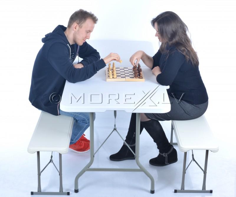 Saliekamais galds 183x76cm + 2 soli