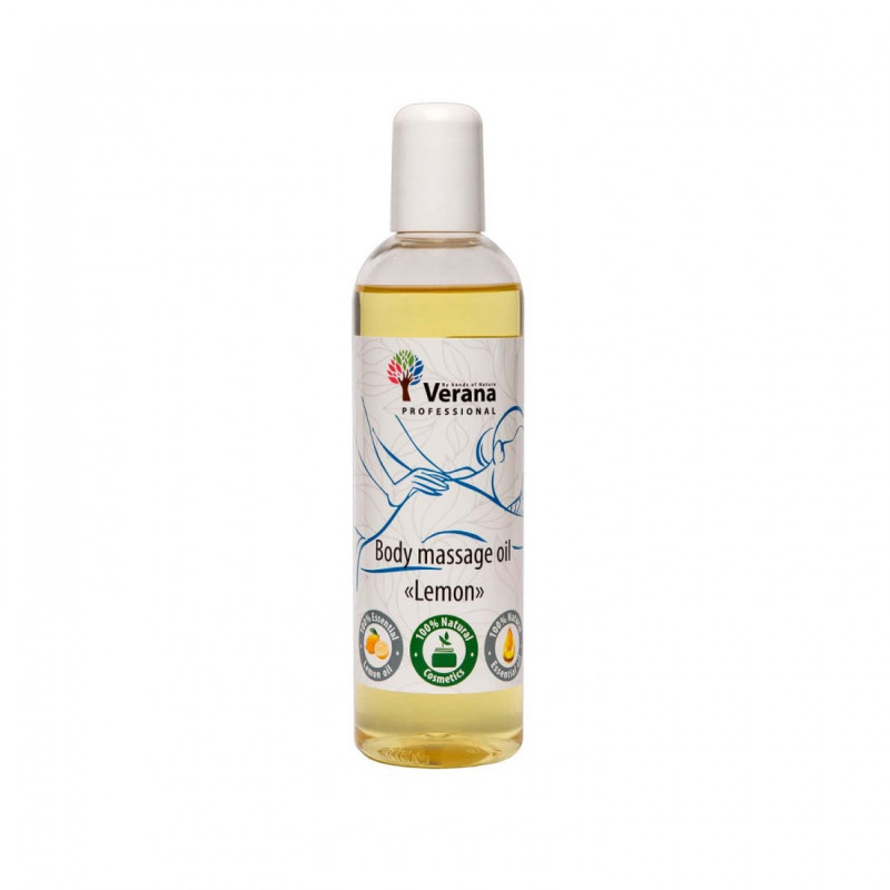 Body massage oil Verana Professional, Lemon 250ml