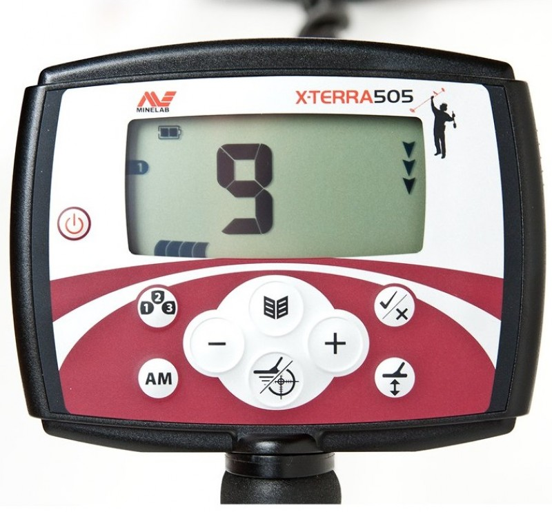 "Minelab X-Terra 505 ar spoli 10.5"" 7.5kHz DD + DĀVANA (3705-0111)"