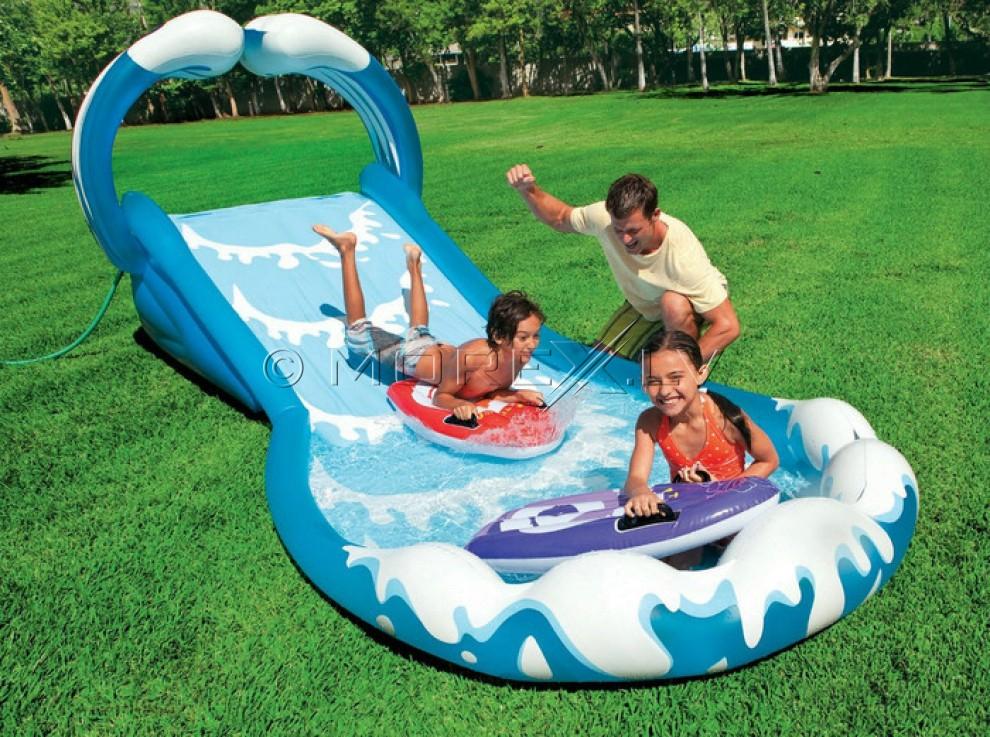 Надувной детский игровой центр (бассейн) INTEX SURF & SLIDE (57469)