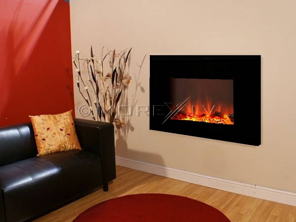 Panoramic electric fireplace 840x450x140mm