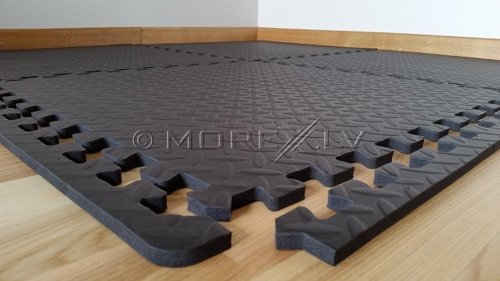 Paklājs zem trenažiera - sporta grīda (4gb. 60x60x1.2cm)