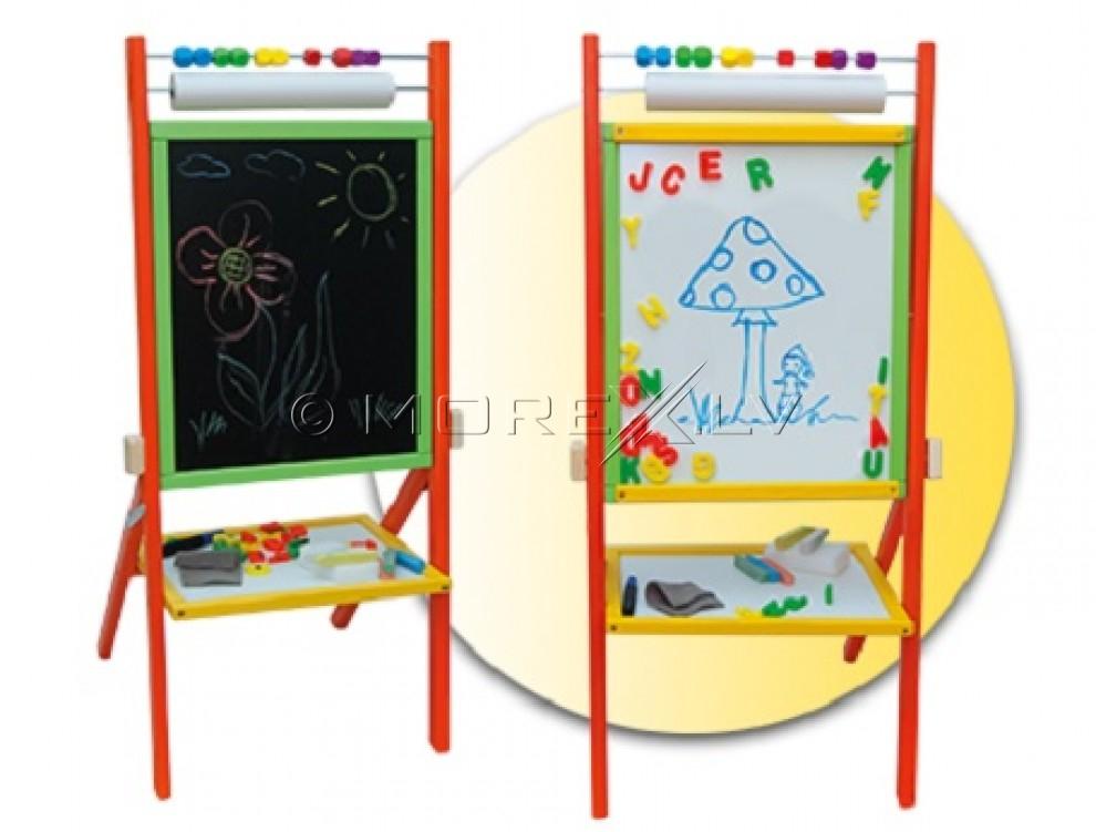 3toysM Детская двухсторонняя доска с бумагой для рисования (46x43x89cm)