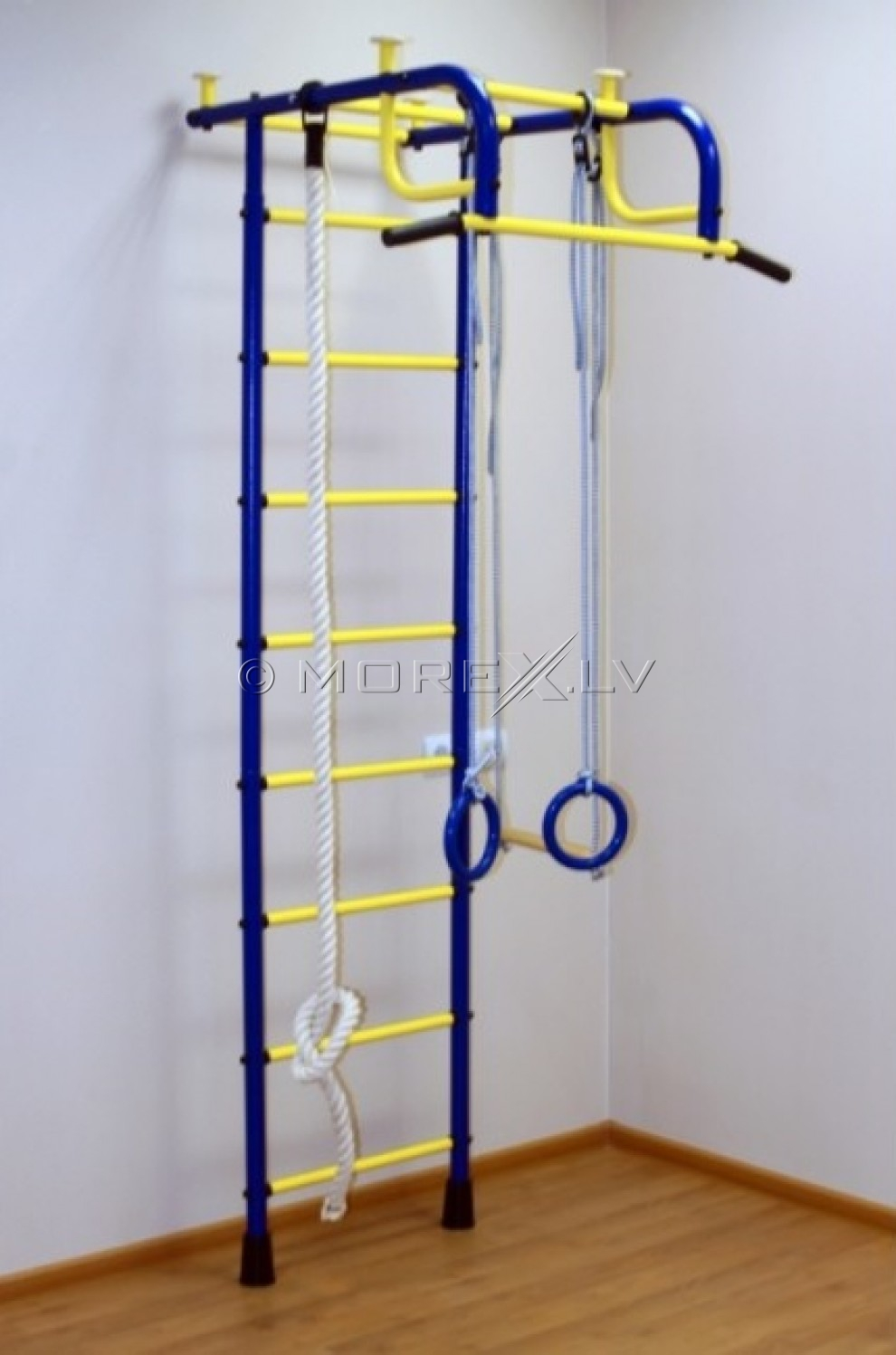 Swedish wall for children Pioner-1 blue-yellow (swedish wall)