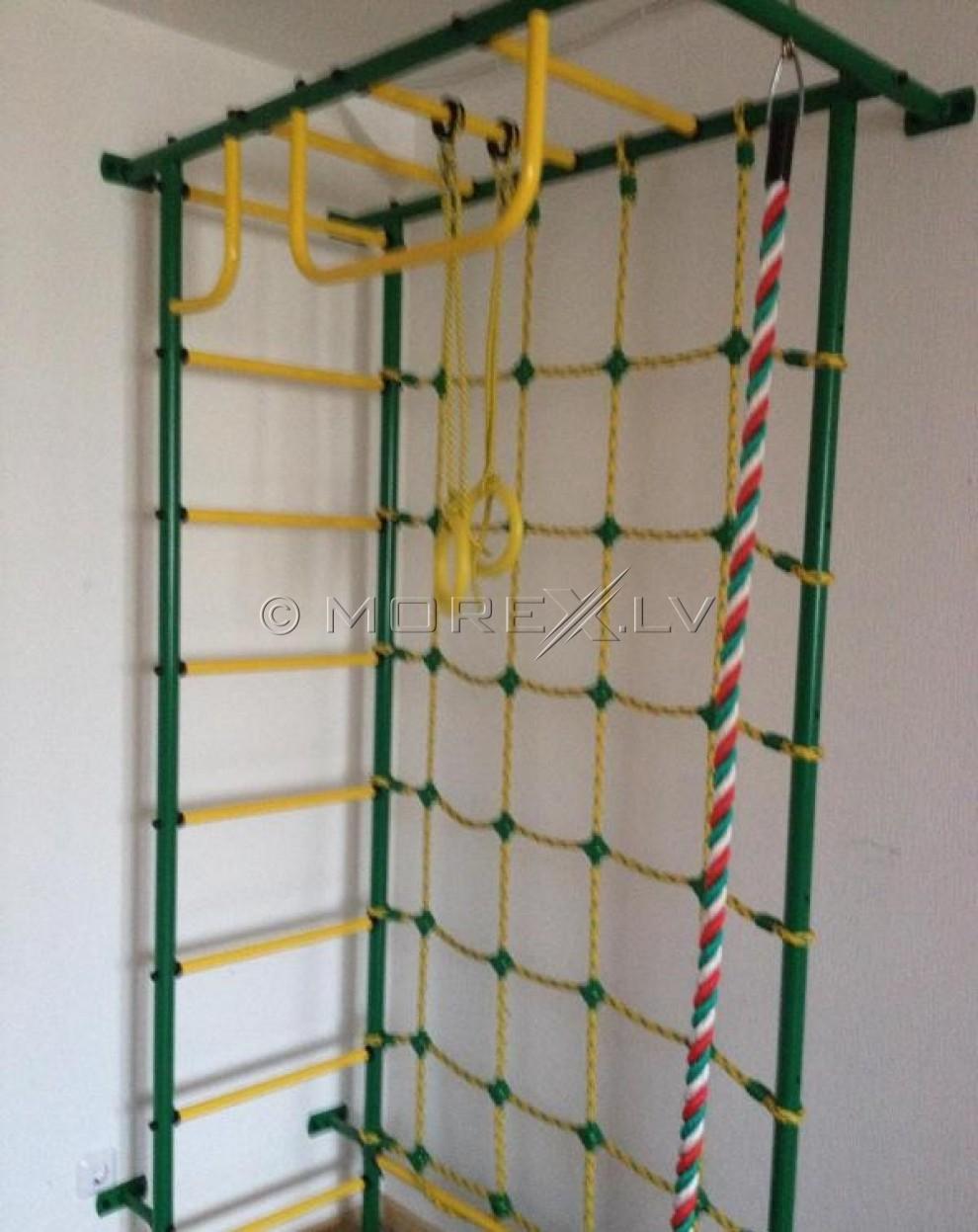 Bērnu sporta komplekss Pioner-8 zaļi-dzeltens (zviedru siena)