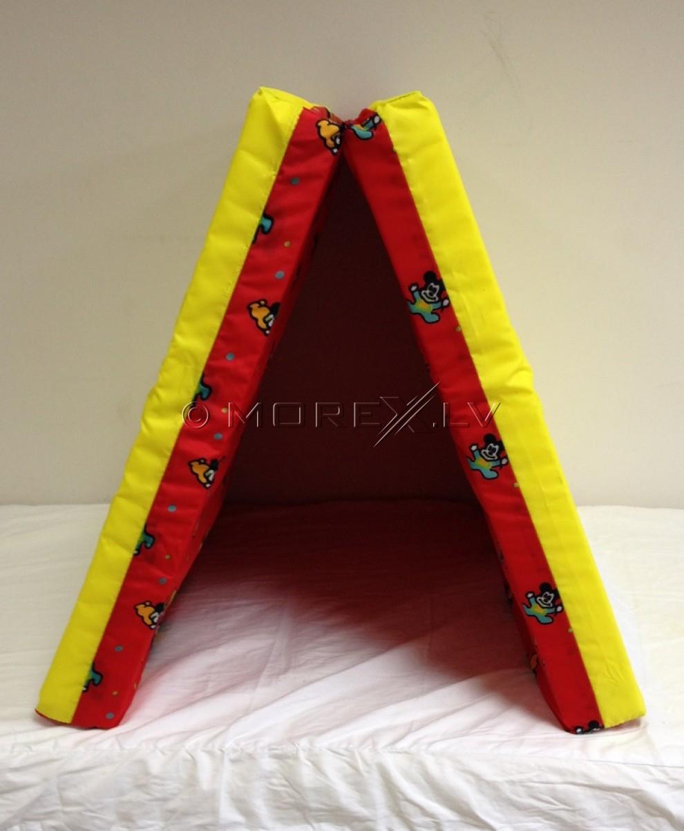 Sporta paklājs 66x120cm sarkan-dzeltens