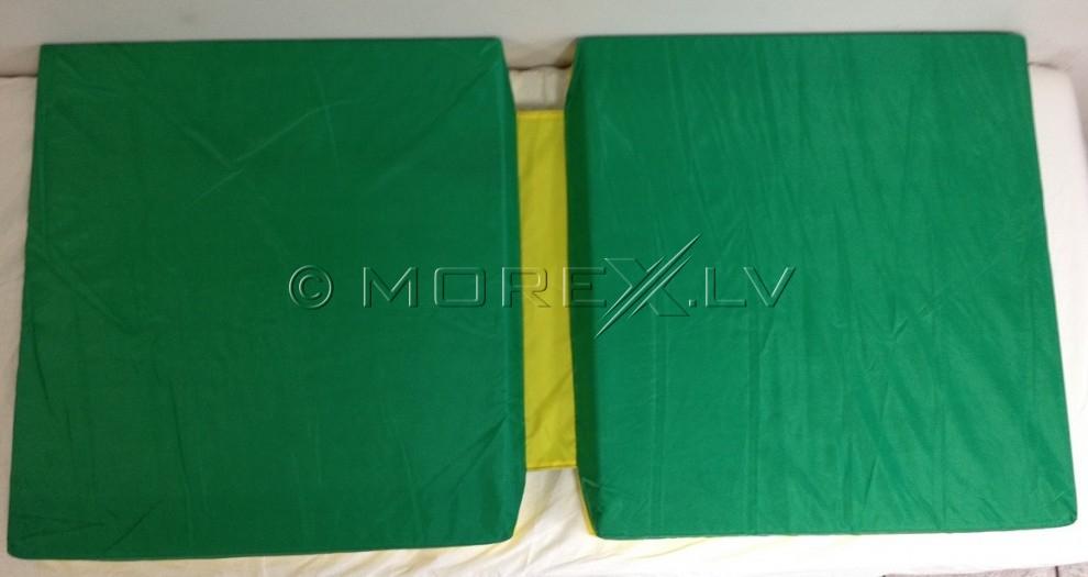 Sporta paklājs 66x120cm zaļi-dzeltens ar ieliktni