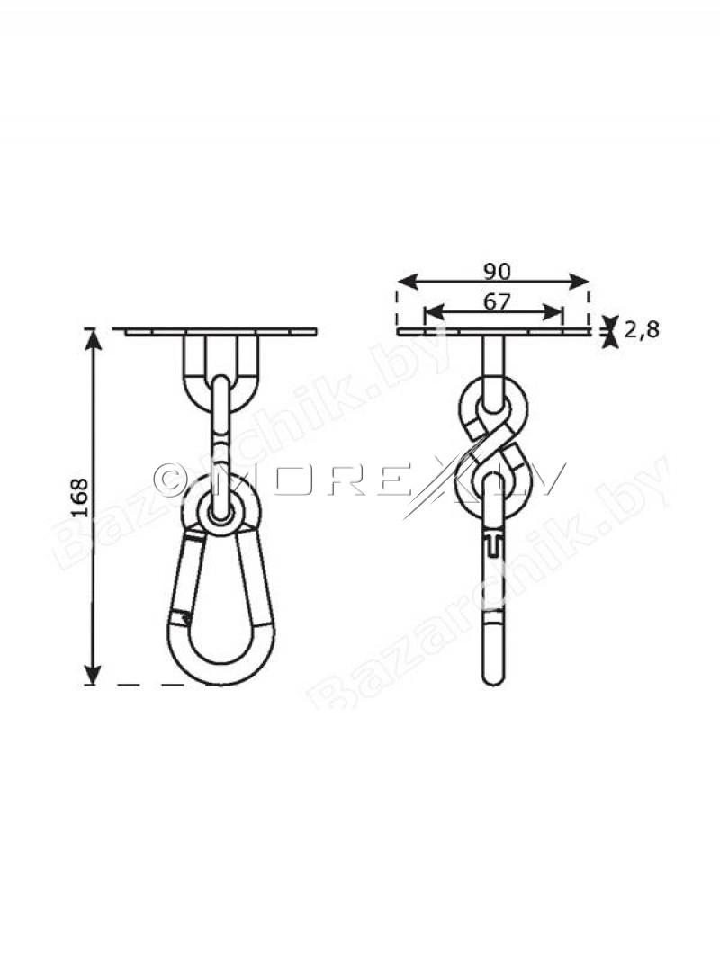 Karabīne stiprināšanai, tērauds, Ø 6,3 mm