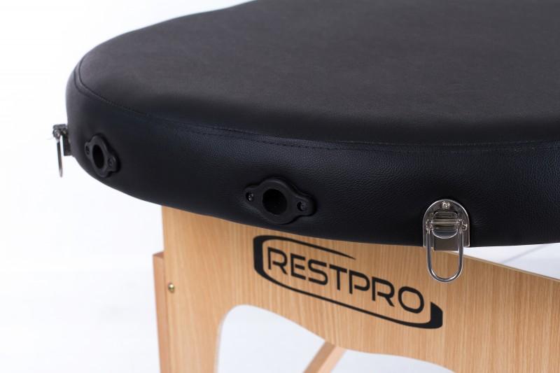 RESTPRO® Classic Oval 2 Black (melna krāsa) masāžas galds (kušete)