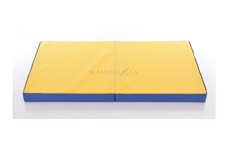 Мат из искусственной кожи 66x160см сине-желтый