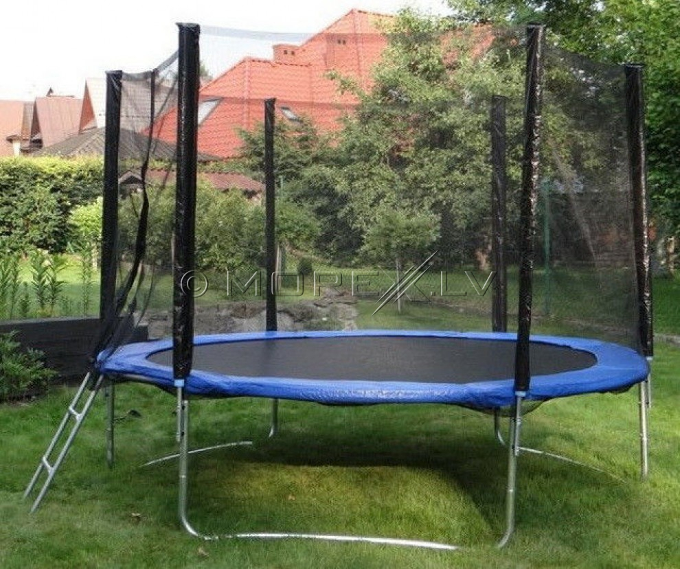 Trampoline 244 cm with safety net and ladder 8ft (2.44 m)