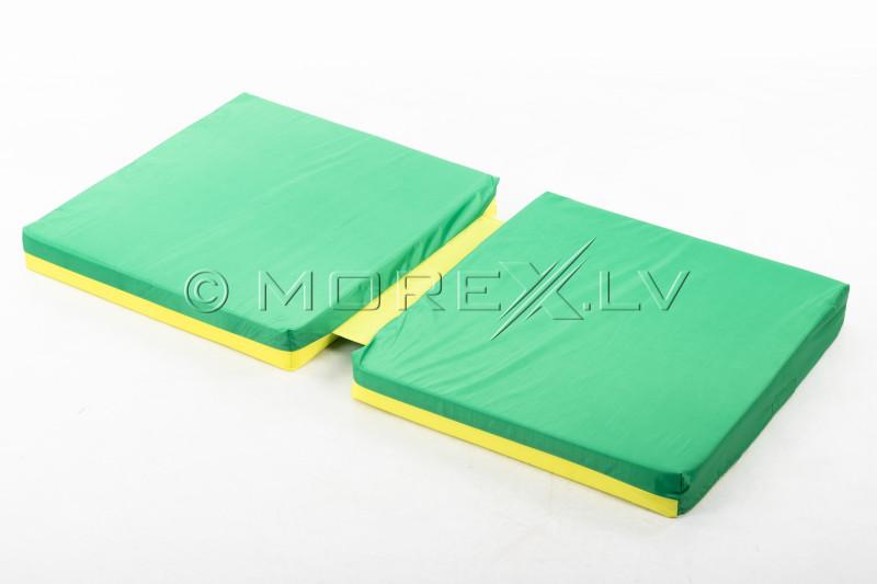 Sporta paklājs 66x120 cm zaļi-dzeltens ar ieliktni