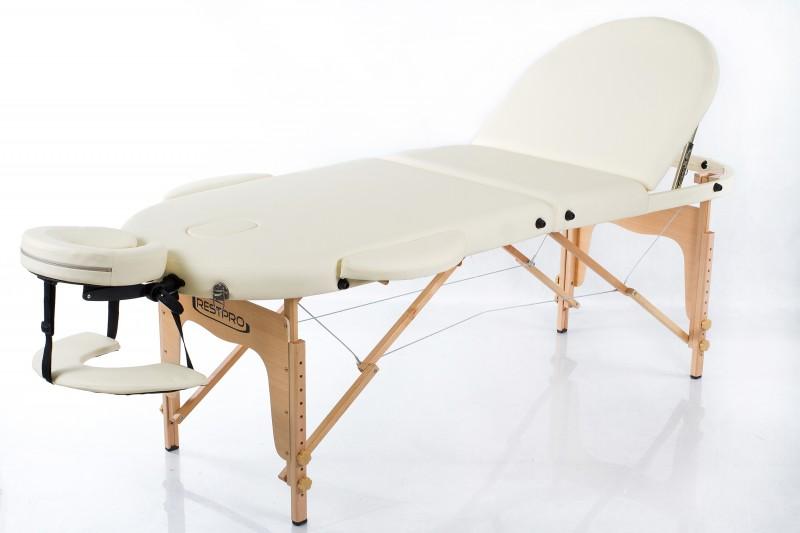 RESTPRO® Classic Oval 3 Cream Massage Table