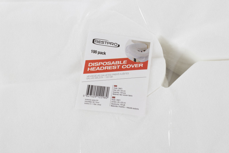 Disposable Headrest Cover - 100pcs Pack
