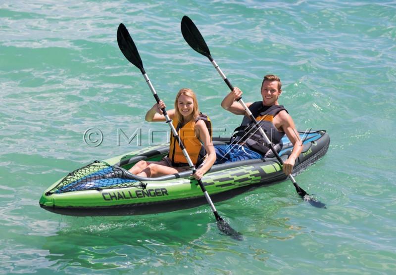 Two-seat inflatable kayak Intex Challenger K2, 351x76 cm (68306)