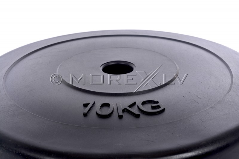 Vinyl weight disk for barbells and dumbbells (plate) 10kg (31,5mm)