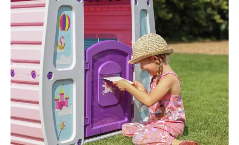 Bērnu plastmasas rotaļu namiņš, mājiņa Starplay Burvju Vienradzis