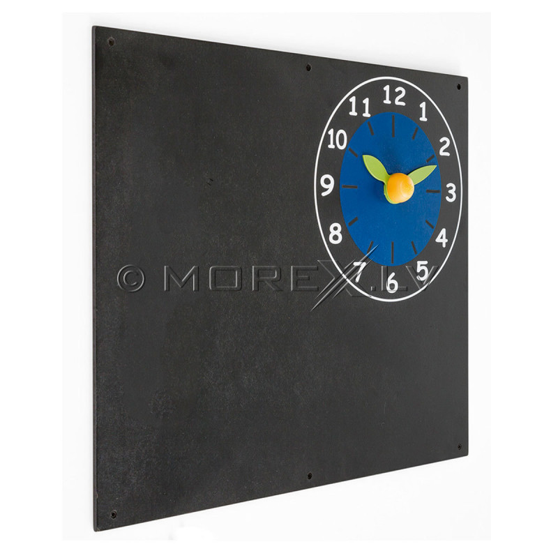 Krīta tāfele ar pulksteni KBT, 60x50 cm