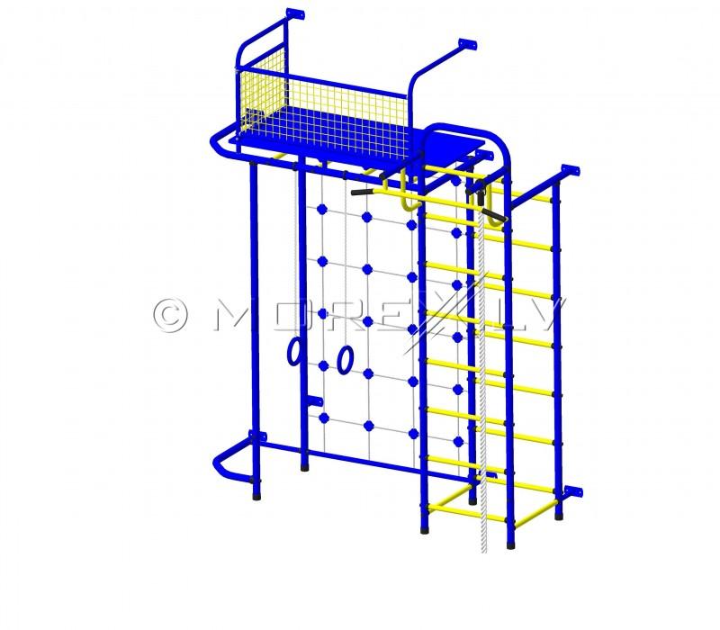 Bērnu sporta komplekss Pioner-C6C zili-dzeltens