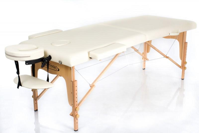 RESTPRO® Classic-2 Cream masāžas galds (kušete)