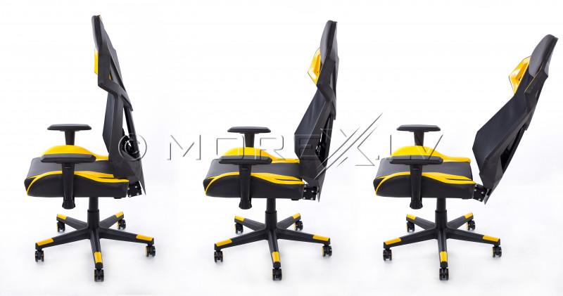 Spēļu krēsls dzelteni melns BM1001
