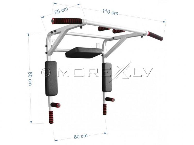 Wall mounted horizontal bar-parallel bars ATLET 3in1