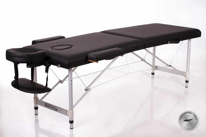RESTPRO® ALU 2 (S) Black Portable Massage Table