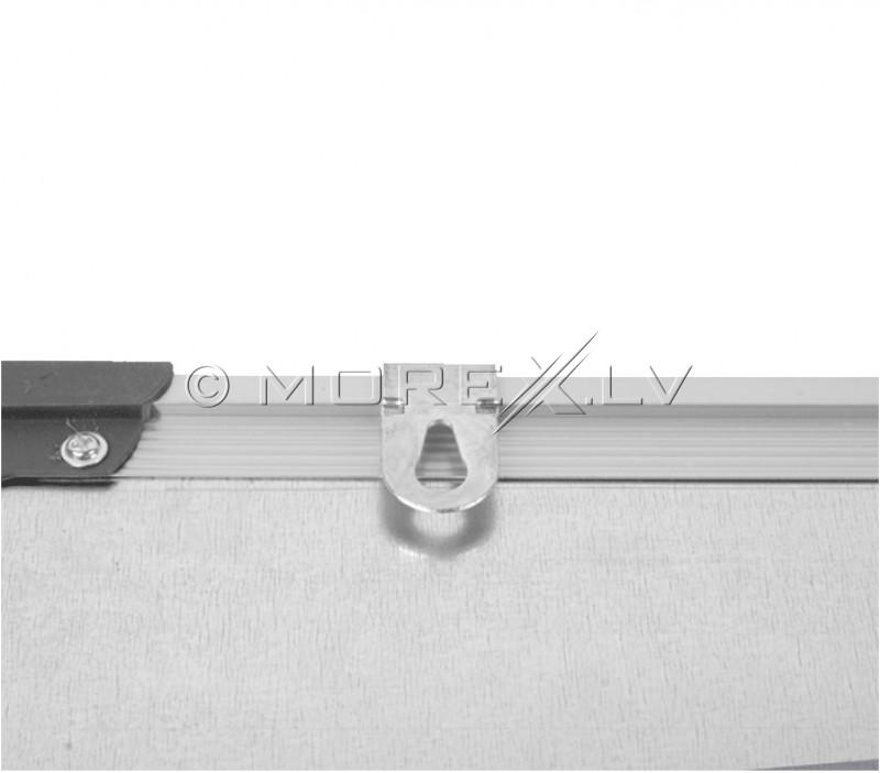 Baltā magnētiskā tāfele alumīnija rāmī 120x200 cm (FO70107)