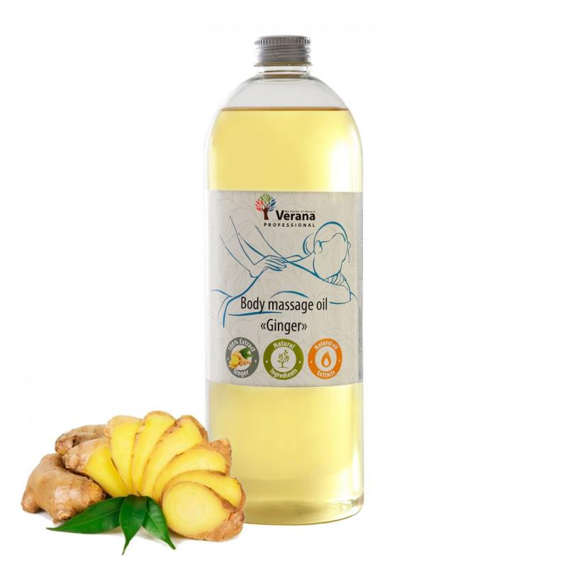 Массажное масло для тела Verana Professional, Имбирь 1 литр