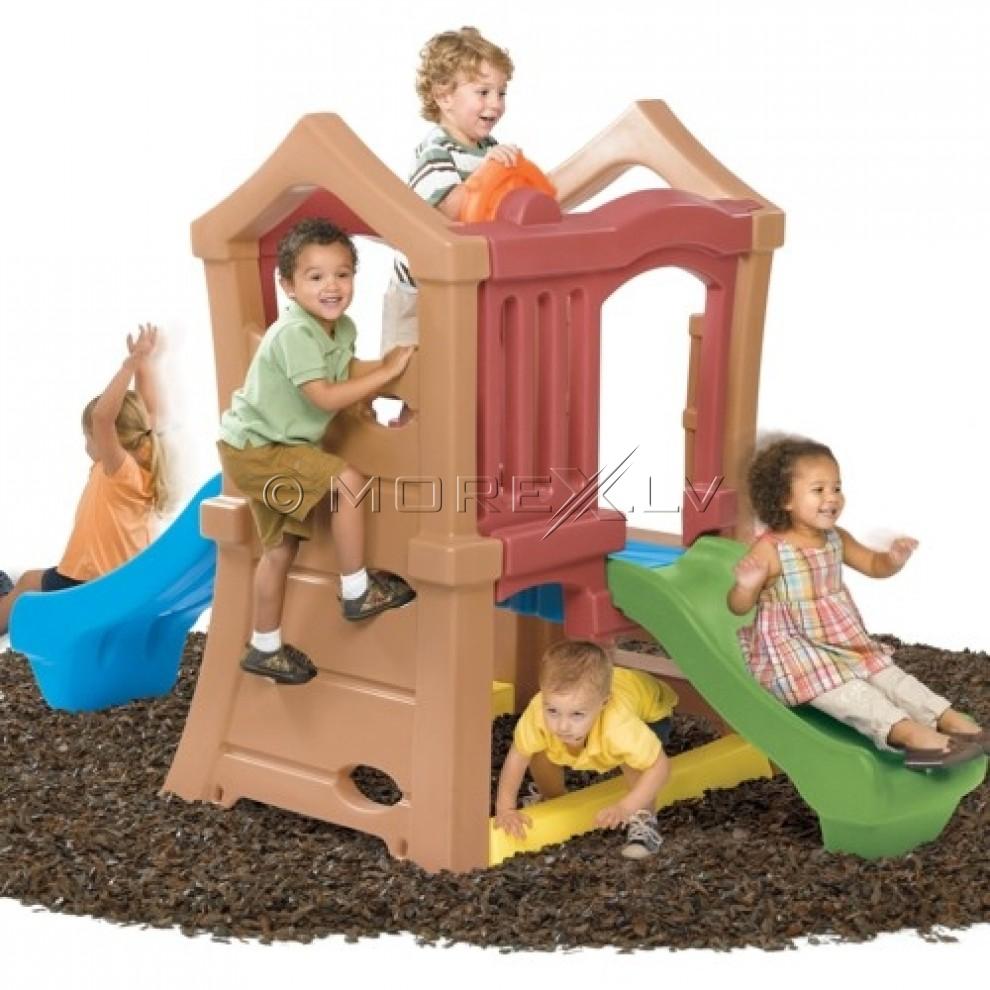 Step2 Rotaļu namiņš ar diviem slīdkalniņiem (800000)