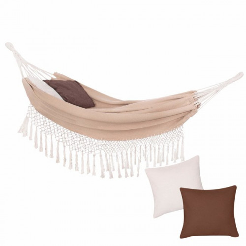 2-seat hammock, beige, 200х150 cm